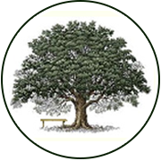 Sylvan Cemetery Logo with green tree.
